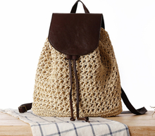33x30CM Summer New Style Mori Girl Trend Backpack Straw Holiday Bag Casual Beach Bag Straw Bag Women a7203