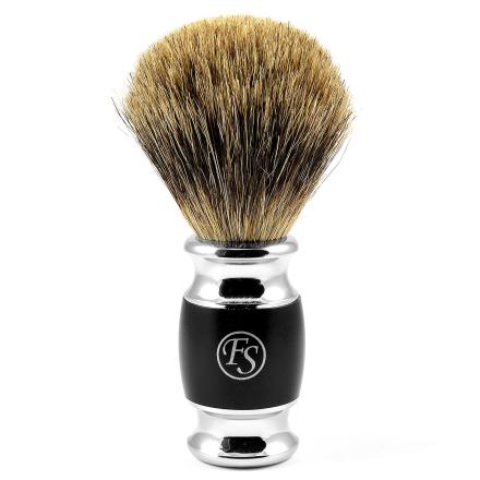 Matt svart Modena Pure Badger Barberkost