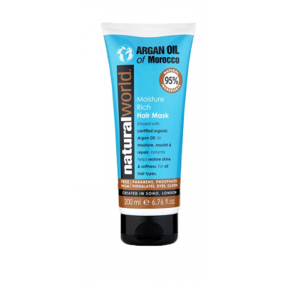Natural World Moroccan Argan Oil Hair Mask 200 ml