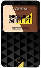 L'Oreal Infallible Sculpt Contouring Palette 03 Medium Dark 10 g