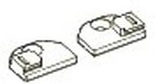 Tilbehør - Fladbeslag til smal glasliste (min 8 mm