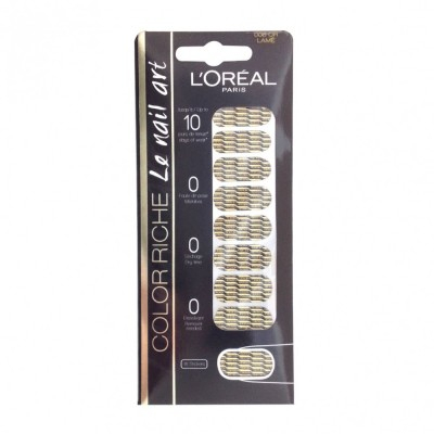 L'Oreal Color Riche Le Nail Art Polish Strips 08 Or Lame 18 stk