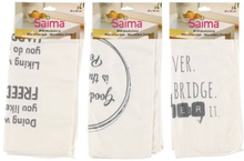Kökshandduk - Saima Microfiber Towel 2pack Text Assortment