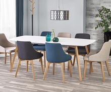Winthrop utdragbart matbord 150-200 cm - Vit/ek