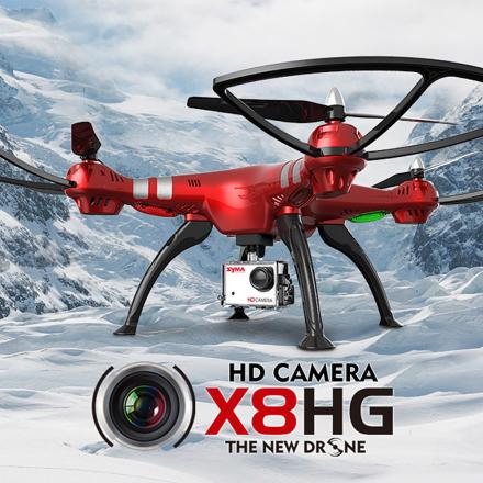 Syma X8HG multikopteri erillisellä 8mp action cam kameralla