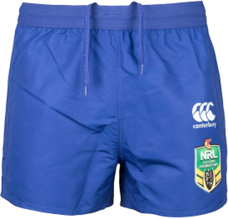 Canterbury bulldoggar NRL 2018 hem Rugby Shorts Bulldogs blå 3XL