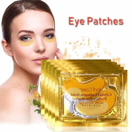20pcs Gold Crystal Collagen Eye Mask Eye Patches Eye Mask For Face Care Dark Circles Remove Gel Mask for the Eyes Ageless
