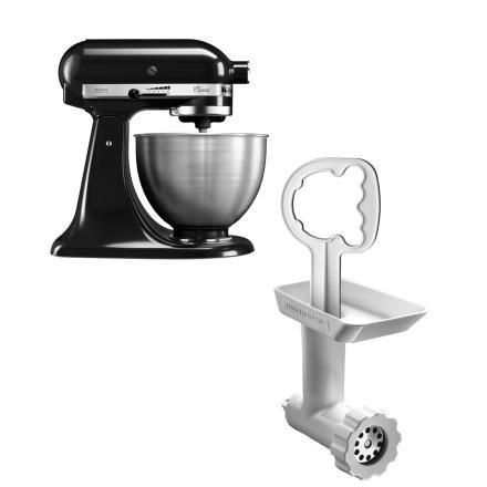 KitchenAid Classic Kjøkkenmaskin Svart + Kjøttkvern
