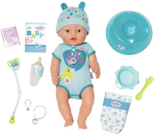 Baby BornSoft Touch Docka Blå