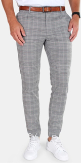 Only & Sons Max Check Pants Crystal Gray