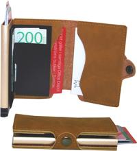 Plånbok med korthållare Safecard Konstläder Ljusbrun 2