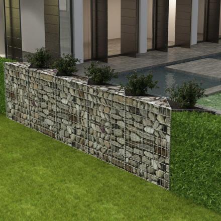 vidaXL gabion-plantekasse/højbed stål 300 x 30 x 100 cm
