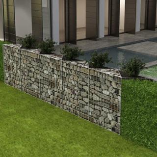 vidaXL Gabionkorg med planteringsmöjlighet stål 300x30x100 cm