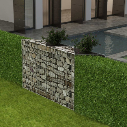 vidaXL Gabionkorg med planteringsmöjlighet stål 150x30x100 cm