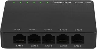 Lanberg Nettverkswitch 5-porter 100/1000 Mbps V12