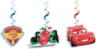 3 Hängande dekorationer Cars Ice 70 cm One-size