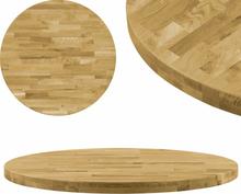 vidaXL bordplade i massivt egetræ rundt 44 mm 500 mm