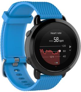 Suunto 3 fitness klokkereim av silikon med kornet tekstur - blå str S