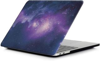 MacBook Pro 13 Touchbar beskyttelses deksel med printet bilde - stjerne himmel i lilla