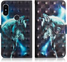Xiaomi Redmi S2 beskyttelses deksel av syntetisk skinn med printet mønster - ulve mønster