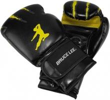 Bruce Lee Bruce Lee Boxhandske Signature, svart/gul, 10 oz Boxningshandskar