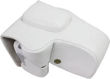 Canon EOS 200D kameraskydd avtagbar rem linsväska syntetläder - Vit