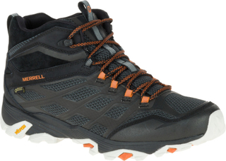 Merrell M's Moab FST Mid GTX Shoes Black/Orange 44 2017 Fjellstøvler