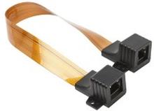 Ekstra tynn nettverkskabel for føring gjennom vindu