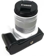 Canon EOS 200D kameraskydd underdelen äkta läder - Svart