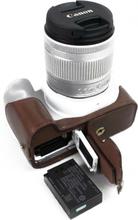 Canon EOS 200D kameran kameraskydd syntetläder - Kaffe