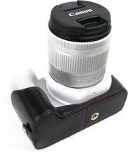 Canon EOS 200D kameran kameraskydd syntetläder - Svart