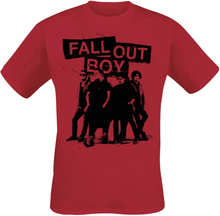 Fall Out Boy - Band Photo -T-skjorte - rød