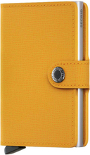 Secrid Miniwallet liten plånbok i skinn och metall, Mörkgul