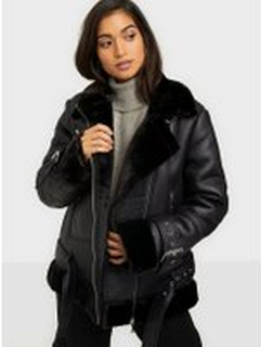 Missguided Premium Zip Detail Aviator Jacket Bomberjackor