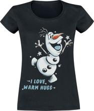 Frozen - Olaf - I Love Warm Hugs -T-skjorte - svart