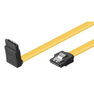 Vinklet Sata 6 Gb/s-kabel med lås 0,3 m