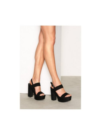 NLY Shoes Platform Chunky Sandal High Heel Svart