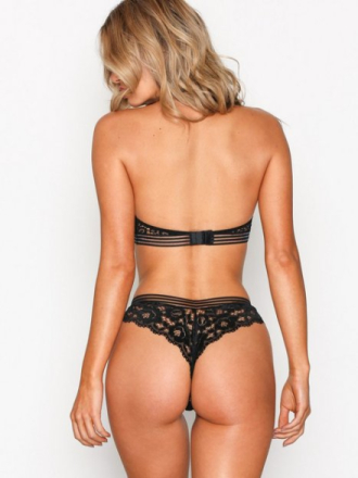 String - Svart NLY Lingerie Sexy Thong Panty