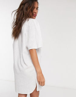 Topshop strandskjorte i hvid