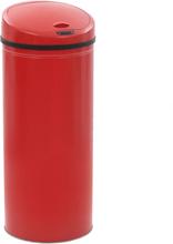 vidaXL Soptunna med sensor 62 L röd
