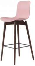 Langue Bar Chair, Dark Stained: Size-Low (65cm) Color selection-Tanzanite Pink