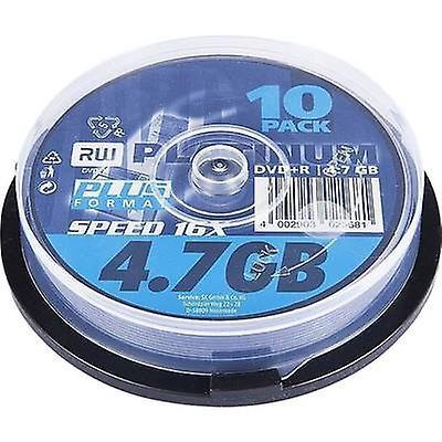 Blank DVD + R 4.7 GB Platinum 102568 10 computer(e) Spindl