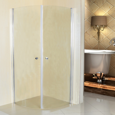 Duschhörna med rundade vikbara dörrar-70x70cm