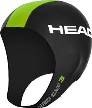Head Neo 3 Swimcap black /lime S/M 2017 Badehetter