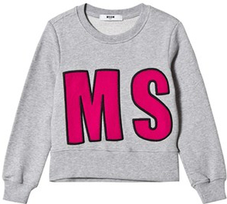 MSGM MSGM Applique Tröja Grå/Rosa 8 years