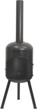 BONFEU Bonbono udepejs - sort stål, inkl. grill tilbehør (H:124 cm)