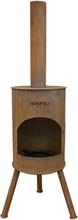 BONFEU Bonton 50 R udepejs - rust stål, inkl. grillrist (H:172 cm)