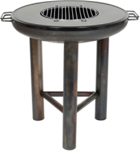 LA HACIENDA Pittsburgh Plancha Medium bålfad m. grill - stål, rund (Ø60)