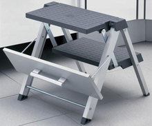 Linfalk Hopvikbar Stege Aluminium Inklusive Frontbeslag