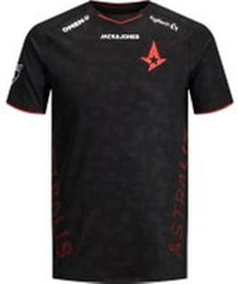 JACK & JONES Astralis Officiel Esport T-shirt Mænd Sort